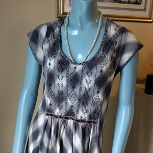 Free People Buffalo Blue Check High Low Dress